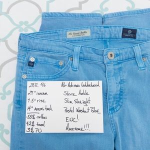 """Ag Adriano Goldschmied Jeans - 💙👖AWESOME! AG STEVIE ANKLE👖💙28 5/6 27"""" EUC"""